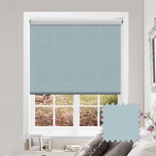 Light Blue Roller Blind - Astral Tiffany